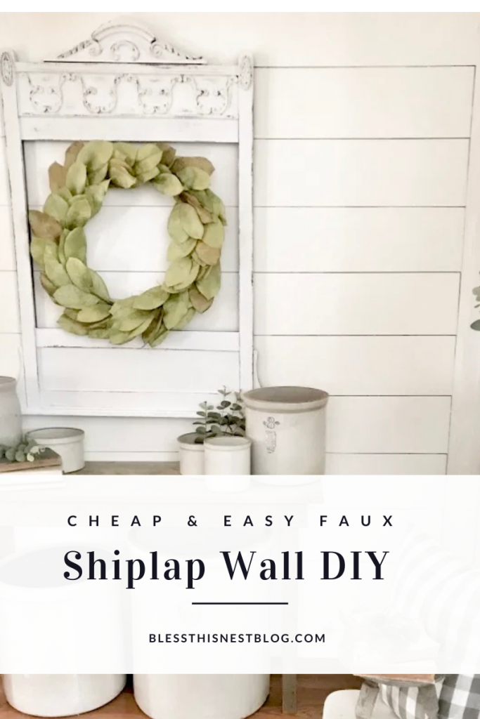 cheap and easy faux shiplap DIY