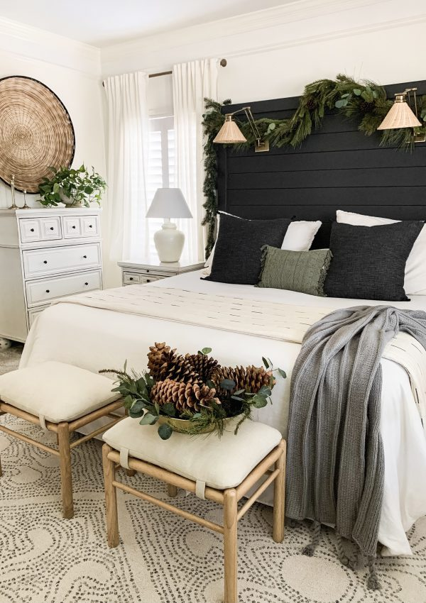 Moody Christmas Master Bedroom Tour