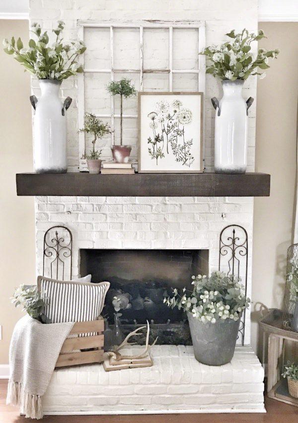 Pottery Barn mantel/shelf hung