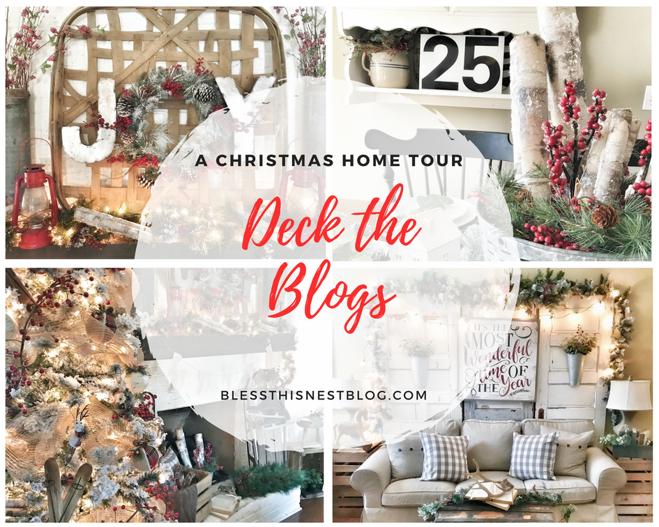 Christmas home tour deck the blogs