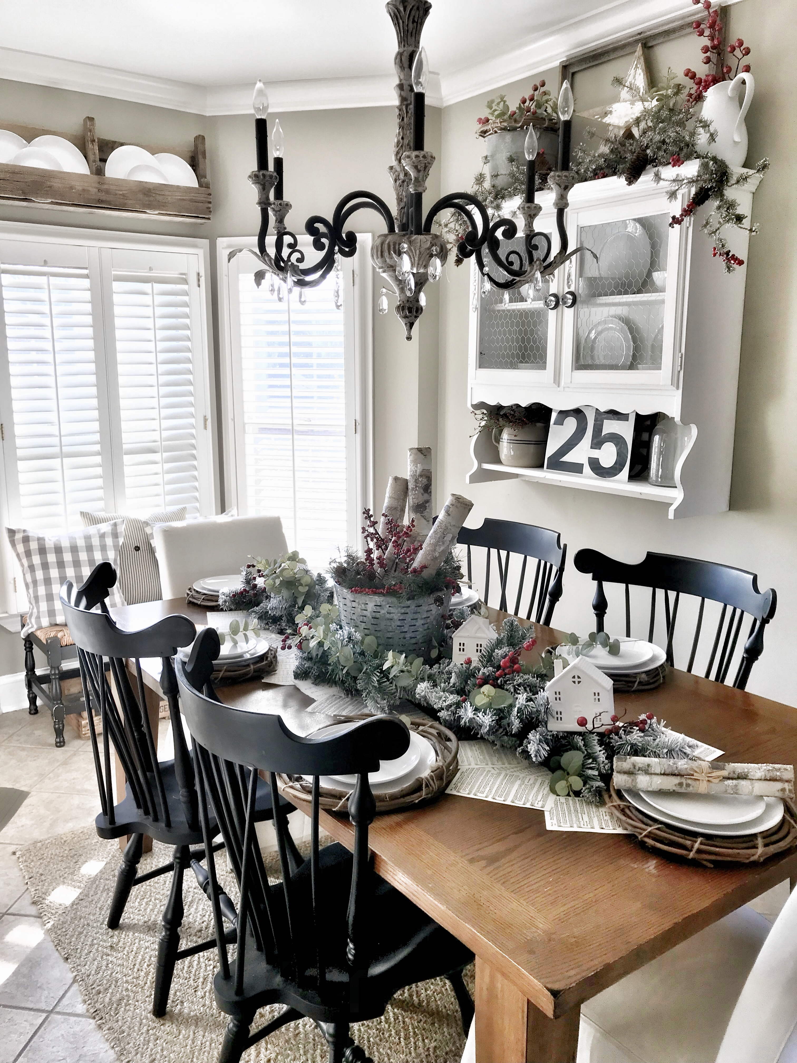 kitchen table with Christmas decor