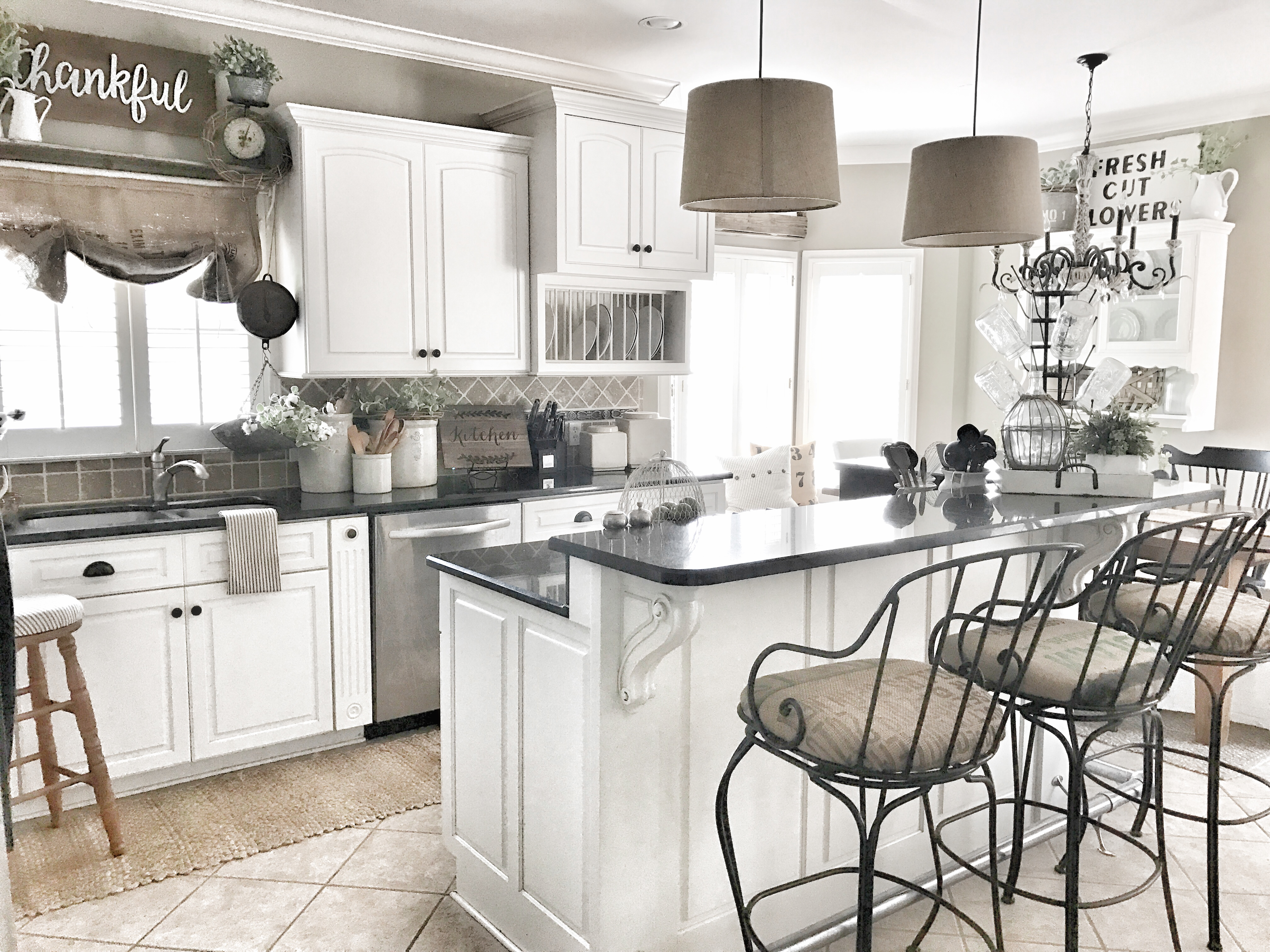 updated farmhouse style kitchen