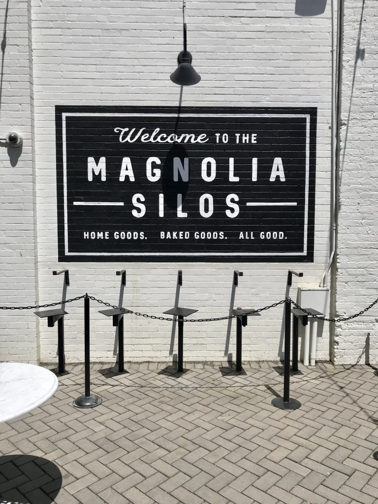 Magnolia Silos bakery sign