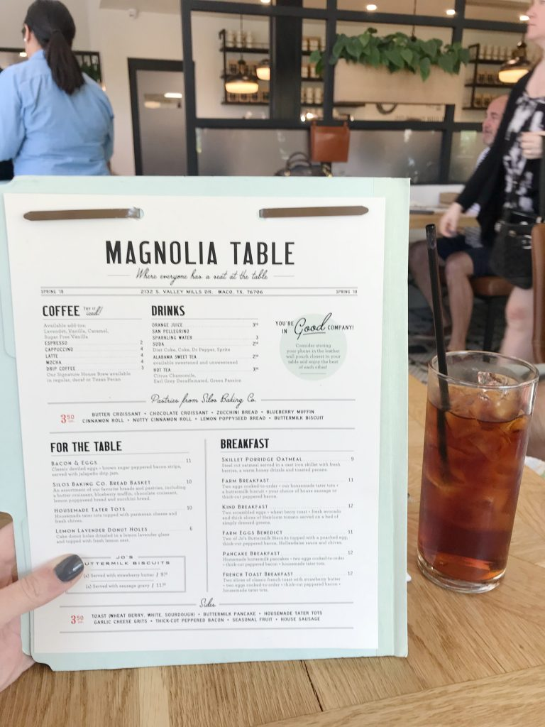 Magnolia Table menu