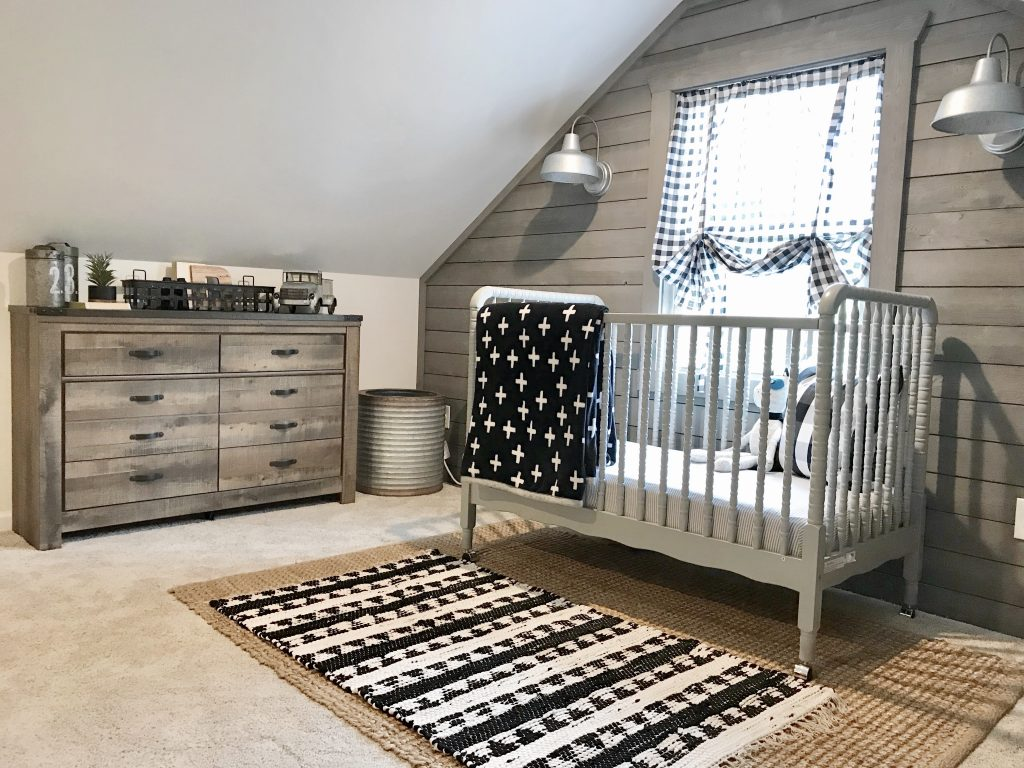 converted nursery bedroom