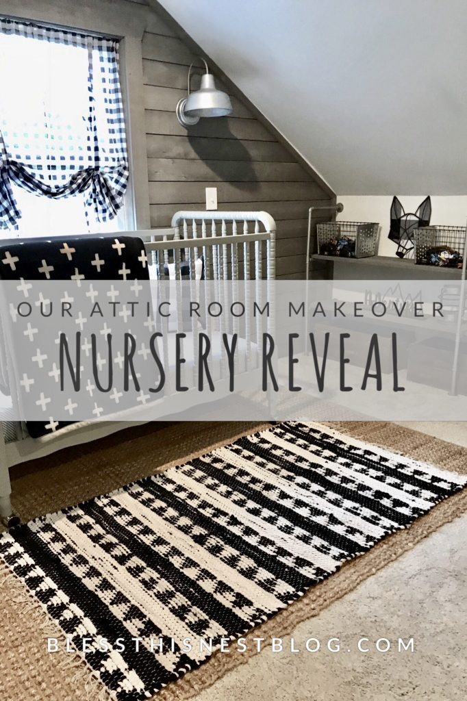our attic room makeover nursery reveal