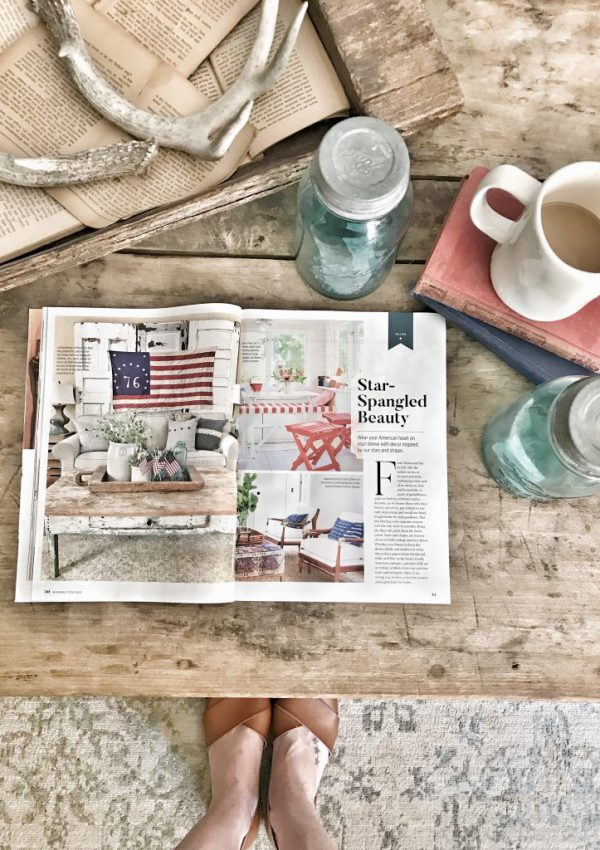 modern vintage farmhouse magazine feature