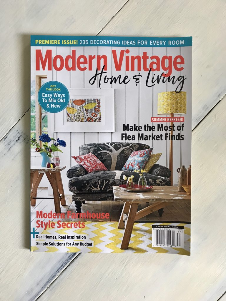 cover of modern vintage magazine