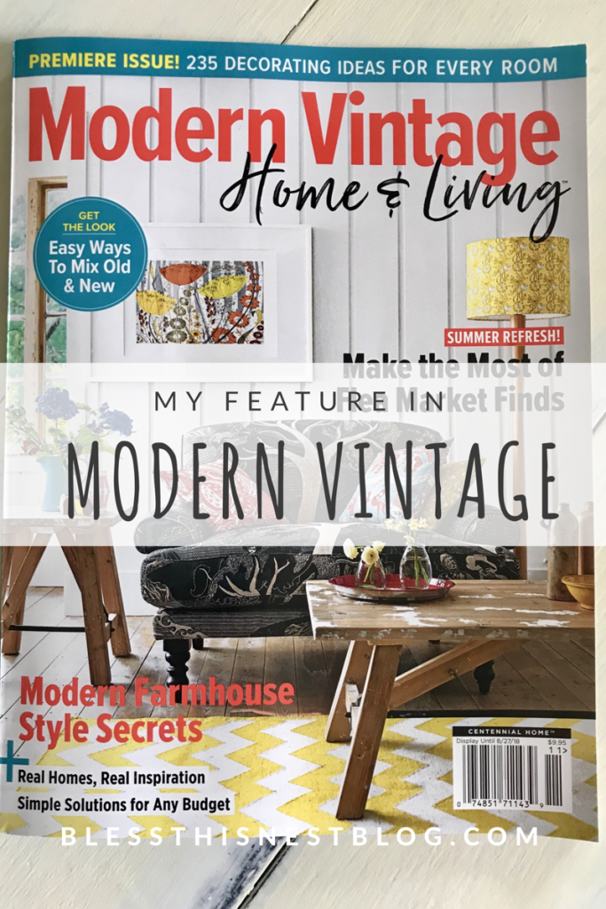 my feature in modern vintage magazine