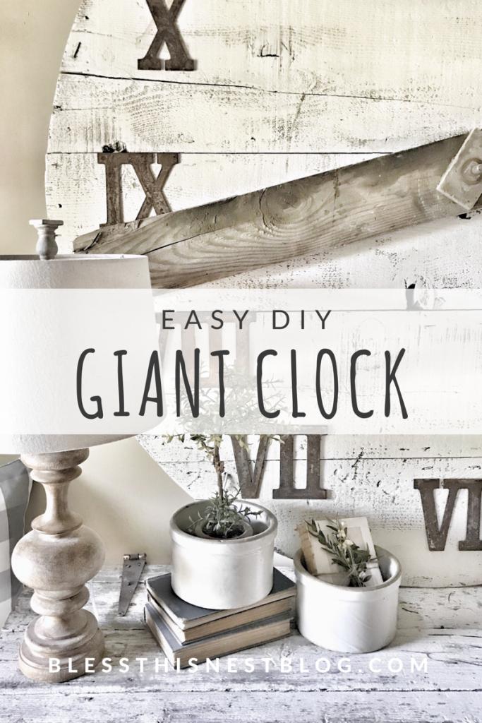 easy diy giant wooden clock