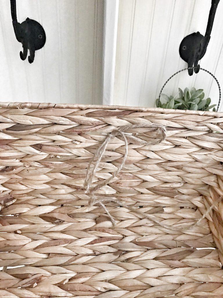 inside of woven basket