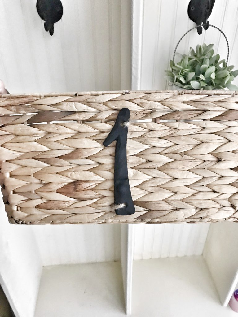 woven basket with number 1