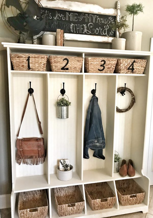 Cubby Refresh for Summer and Basket DIY