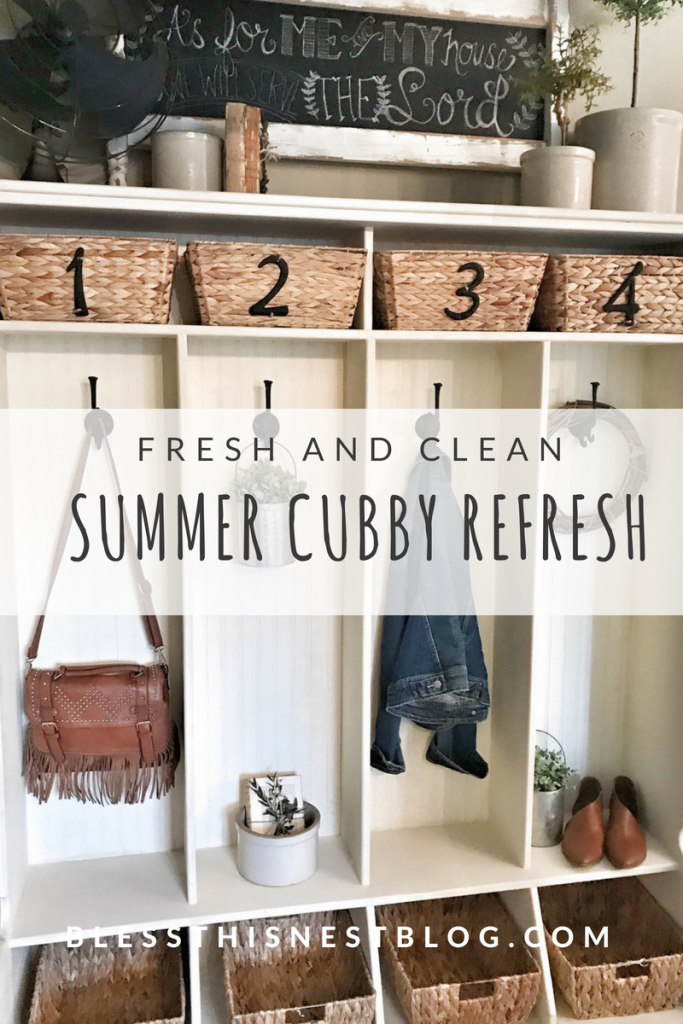 fresh and clean summer cubby refresh