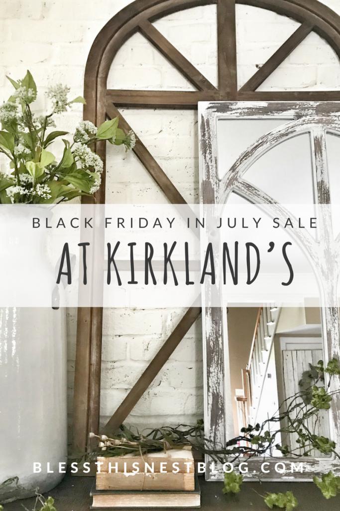 Black Friday in July sale at Kirkland's