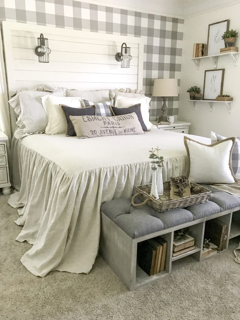 bedroom with farmhouse decor