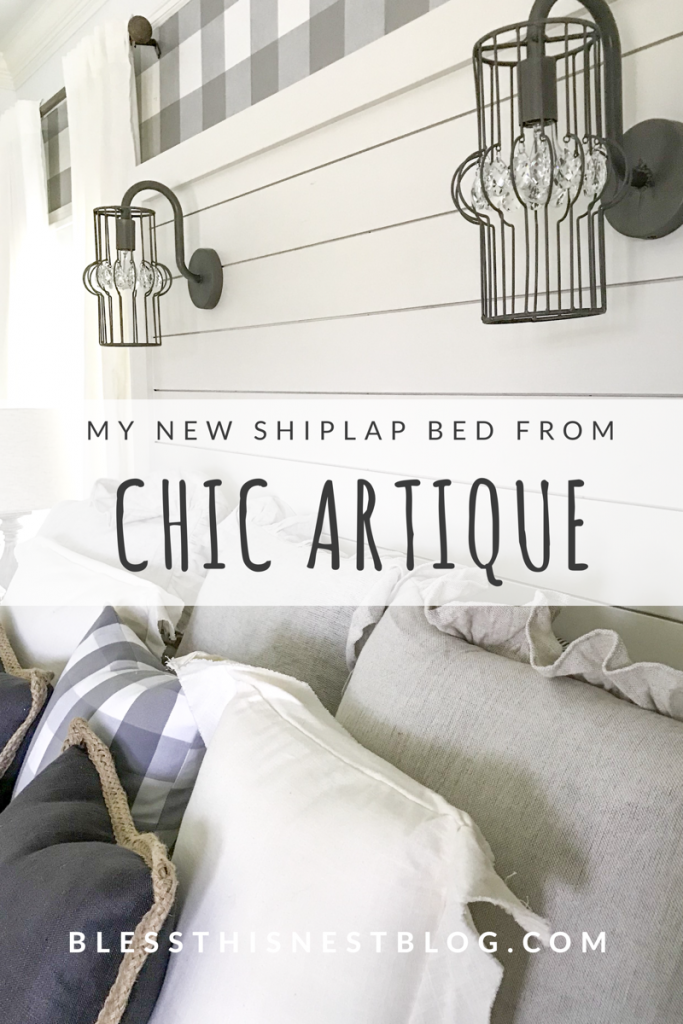 My new shiplap bed from chic artique