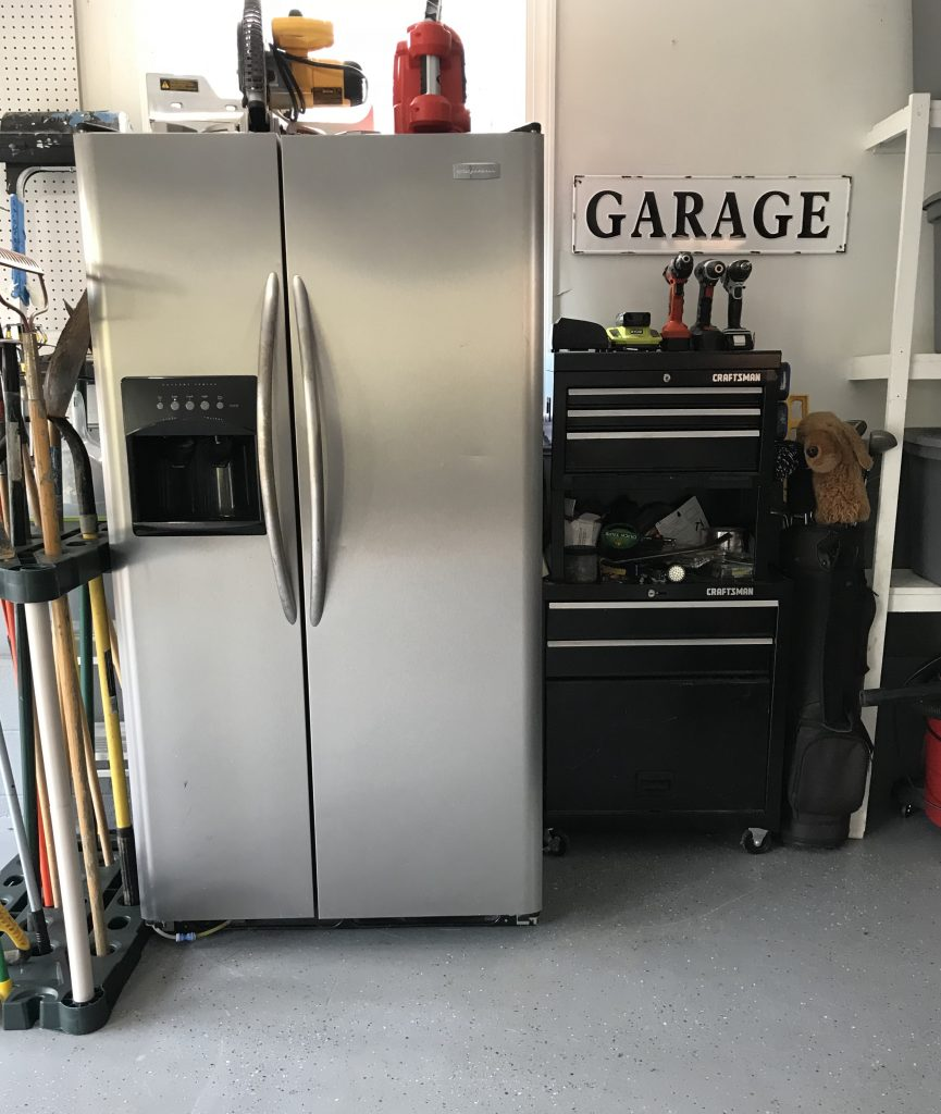 refrigerator and tools