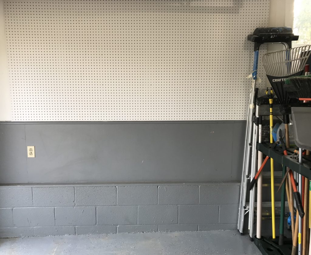 garage transformation new peg board
