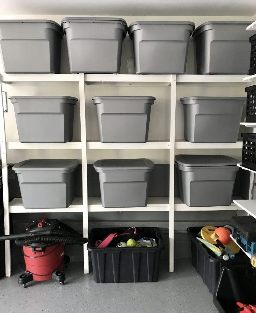 garage transformation storage bins