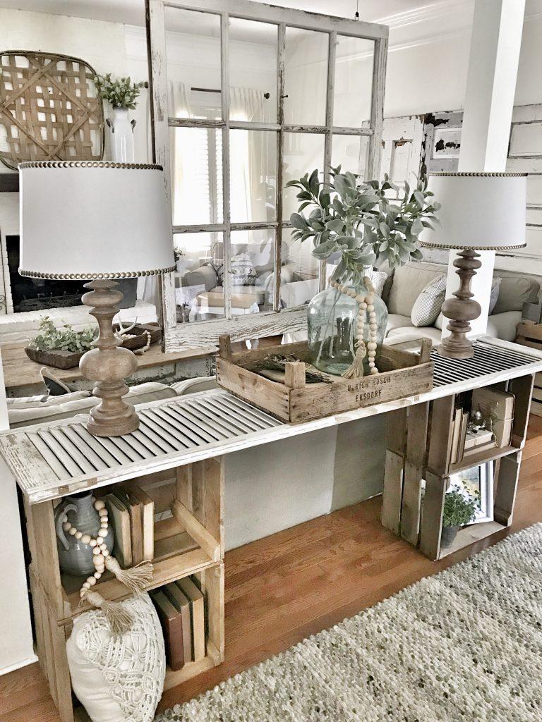 farmhouse diy console table