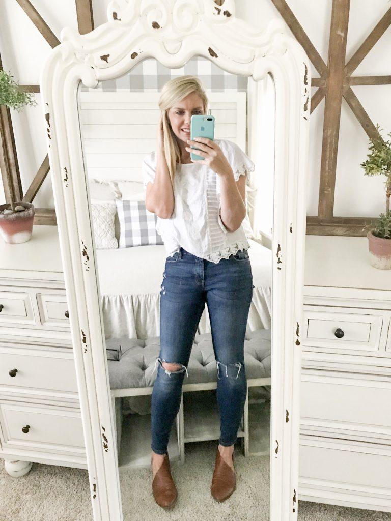 selfie in kirkland's standing mirror
