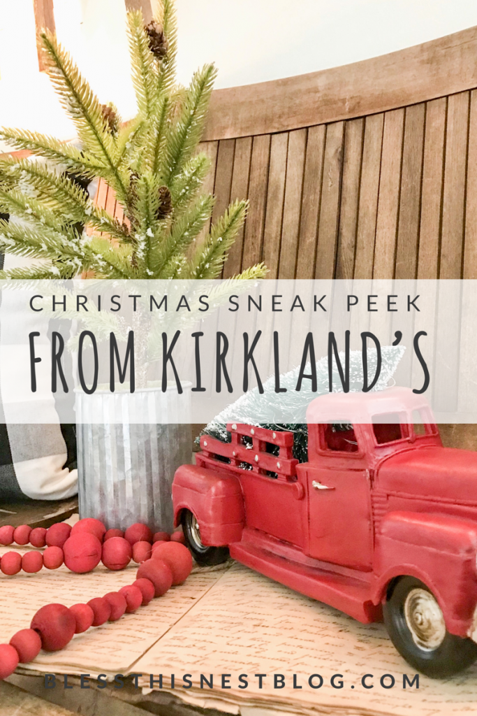 Christmas sneak peek from Kirkland's