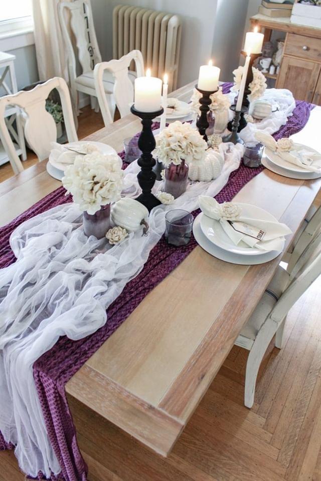 Halloween kitchen table decor