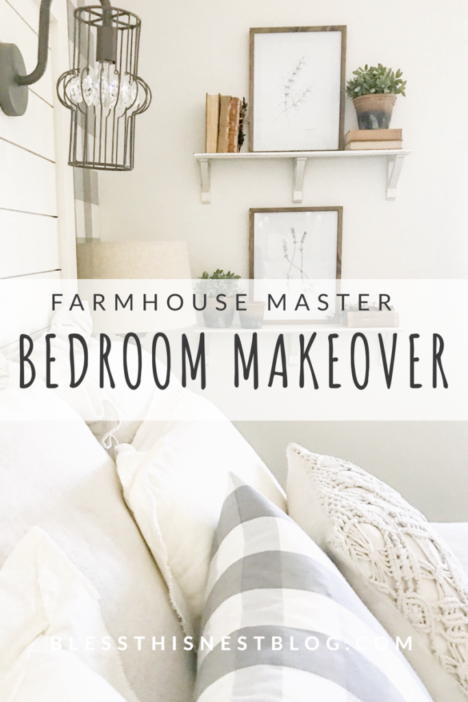 farmhouse master bedroom makeover
