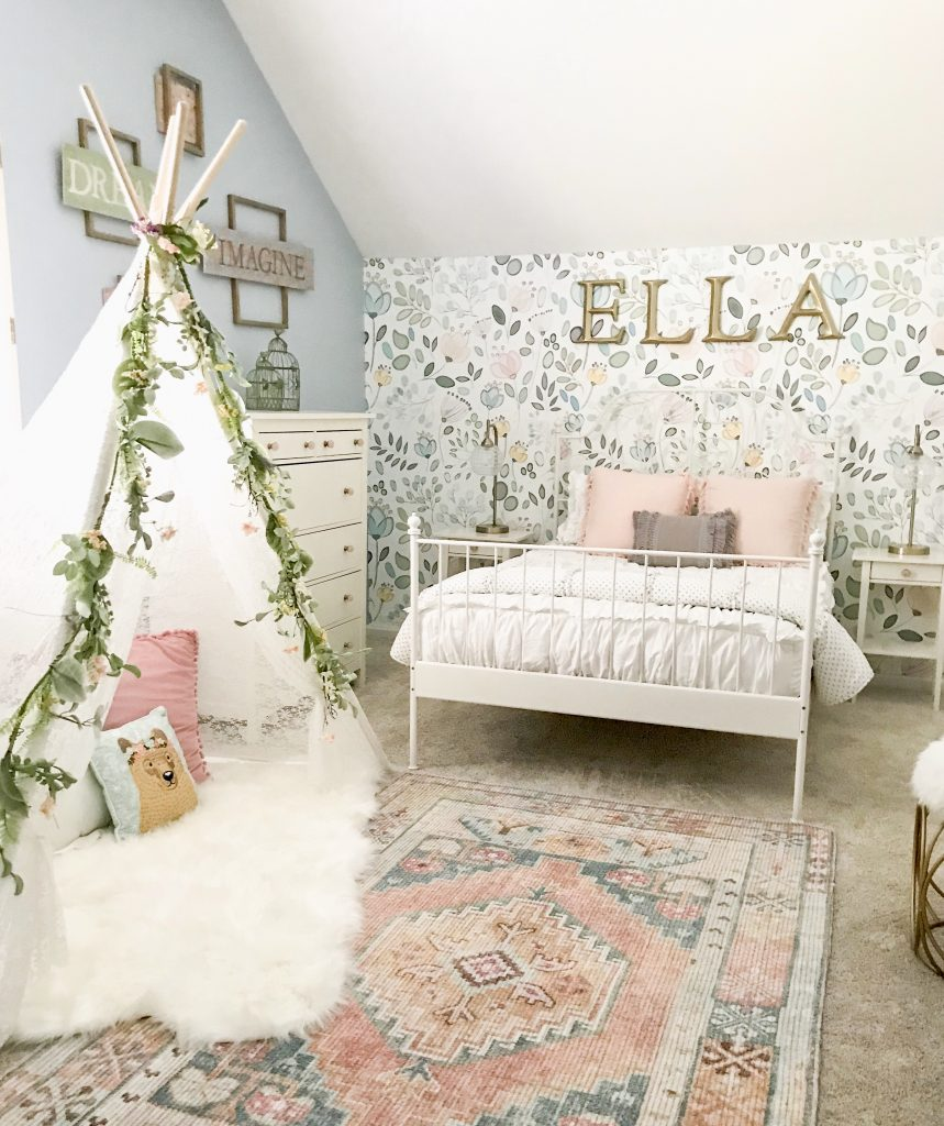 little girl room decor tepee