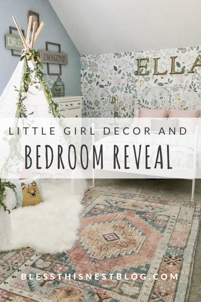 little girl room decor and bedroom reveal
