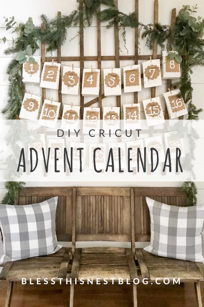advent calendar over church pew