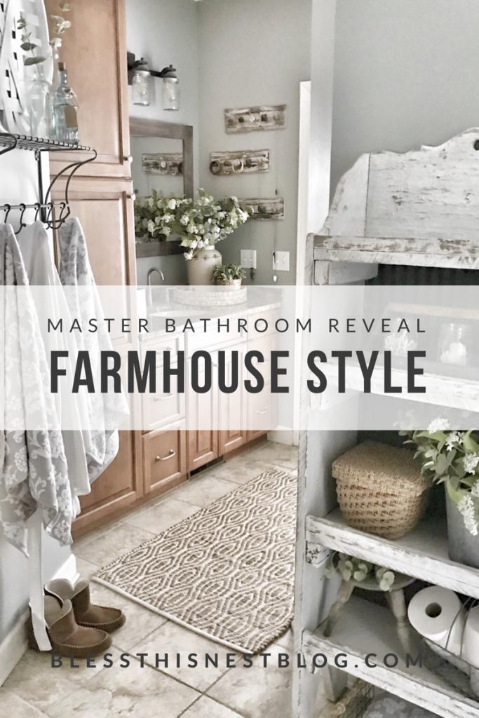 master bathroom reveal farmhouse style