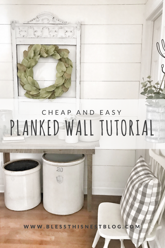 cheap and easy planked wall tutorial