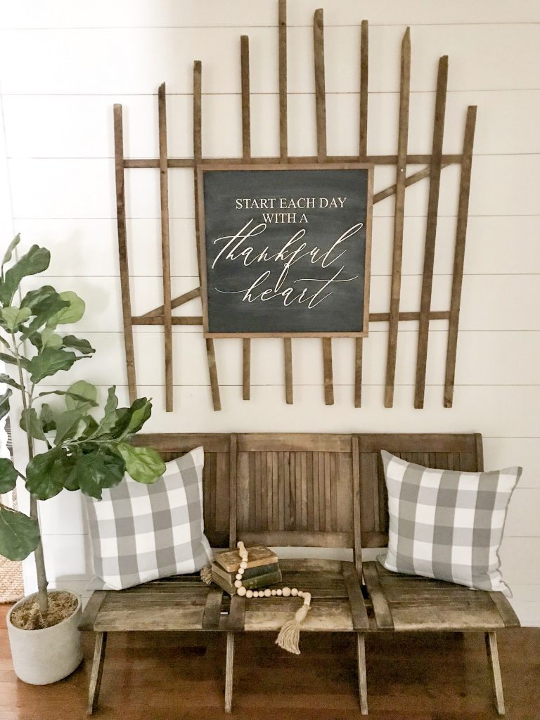 faux shiplap painted dove white