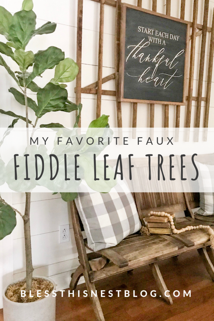 my favorite faux fiddle leaf trees