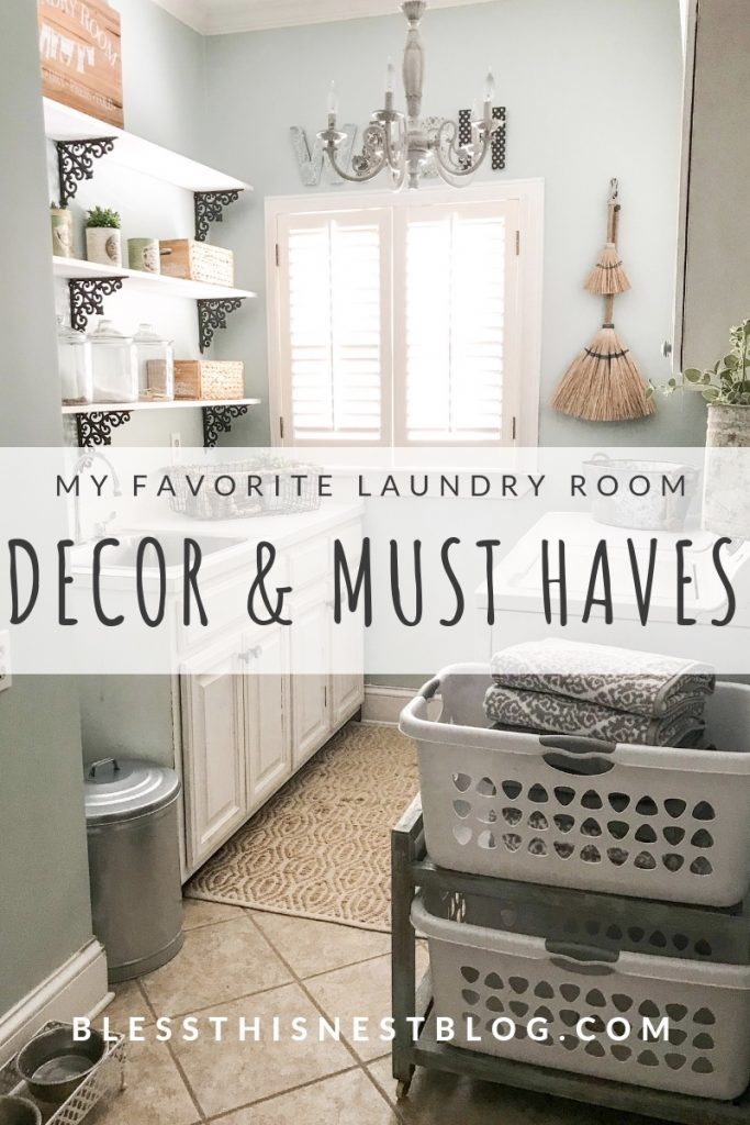 my favorite laundry room decor & must haves