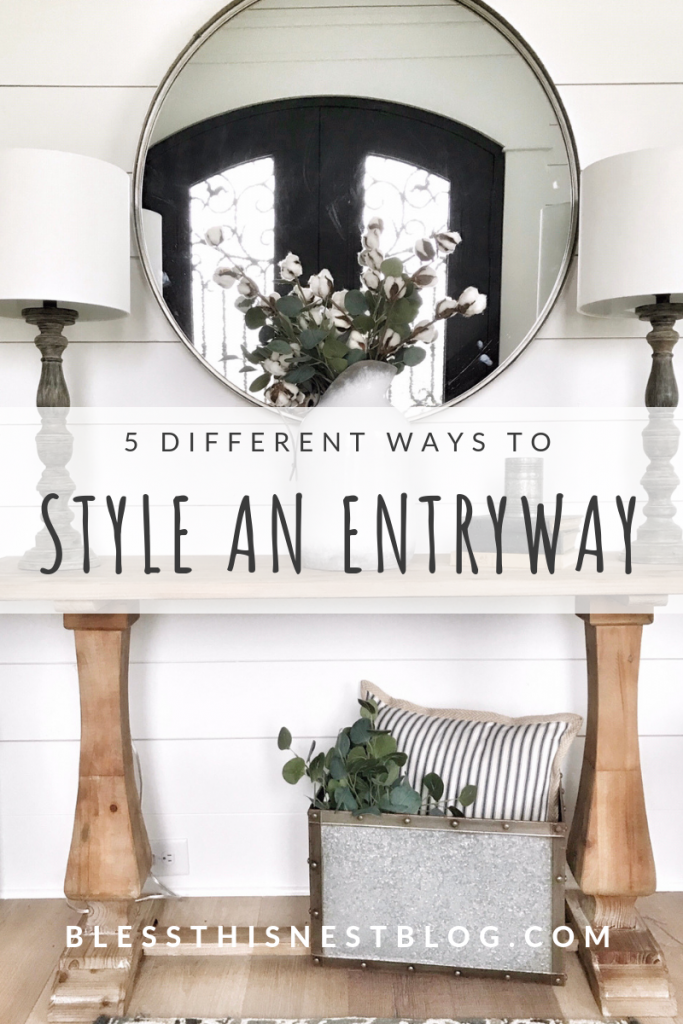5 different ways to style and entryway