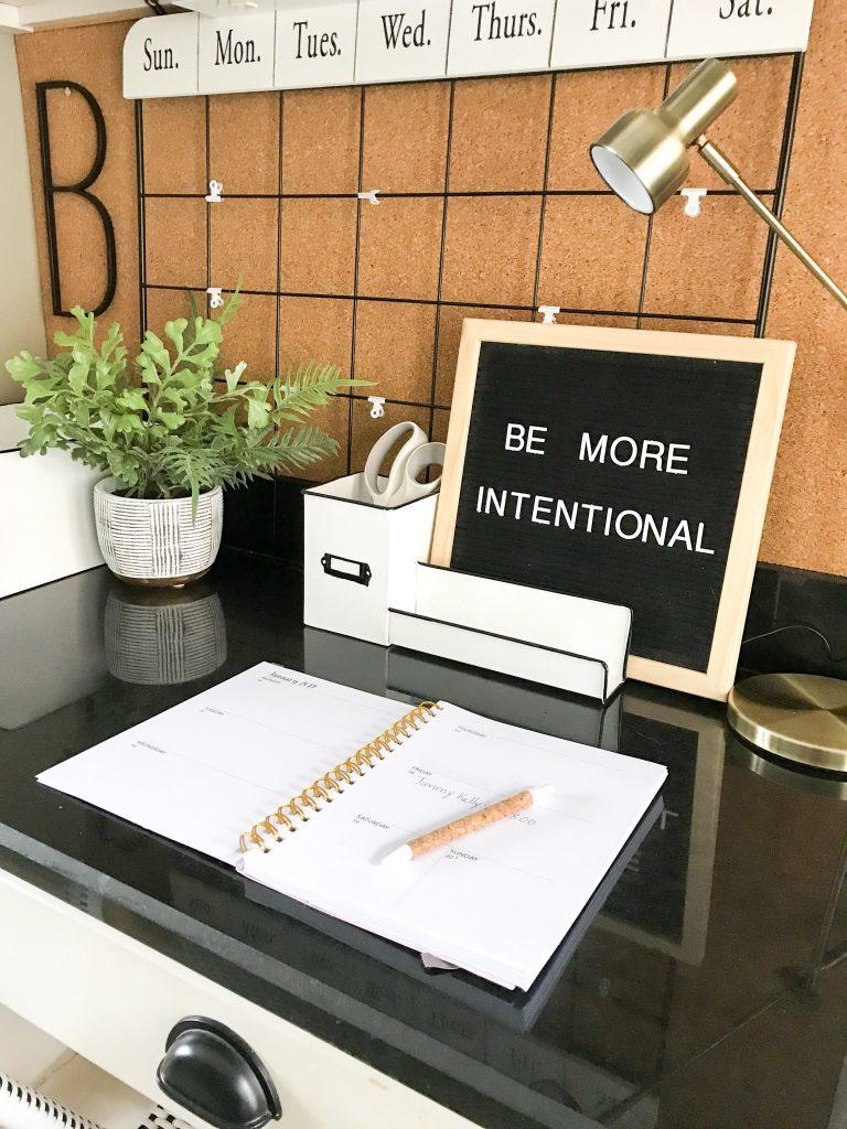 sign on desk