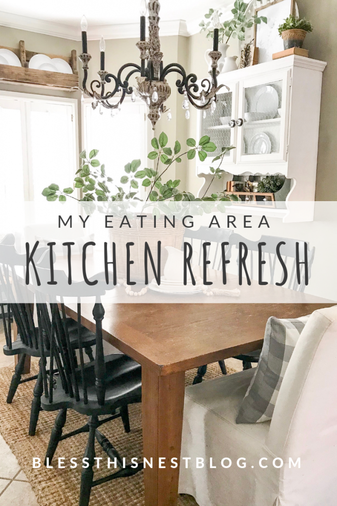 my eating area kitchen refresh