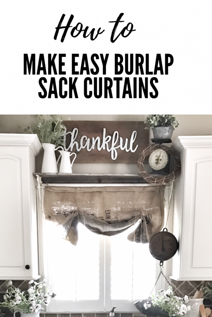 header image for making burlap curtains