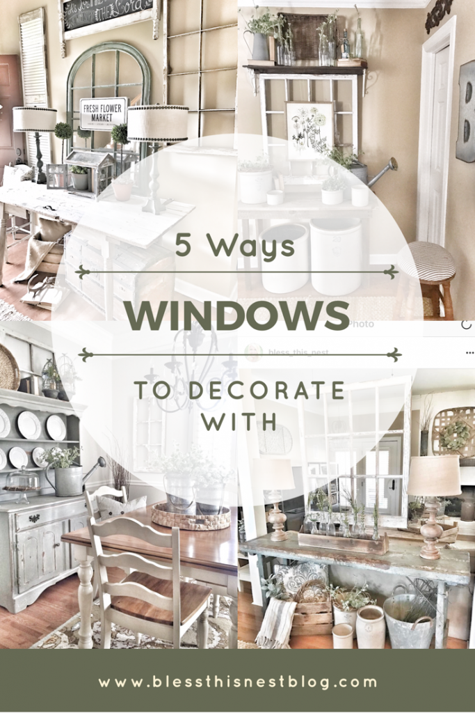 header image decorate with old windows
