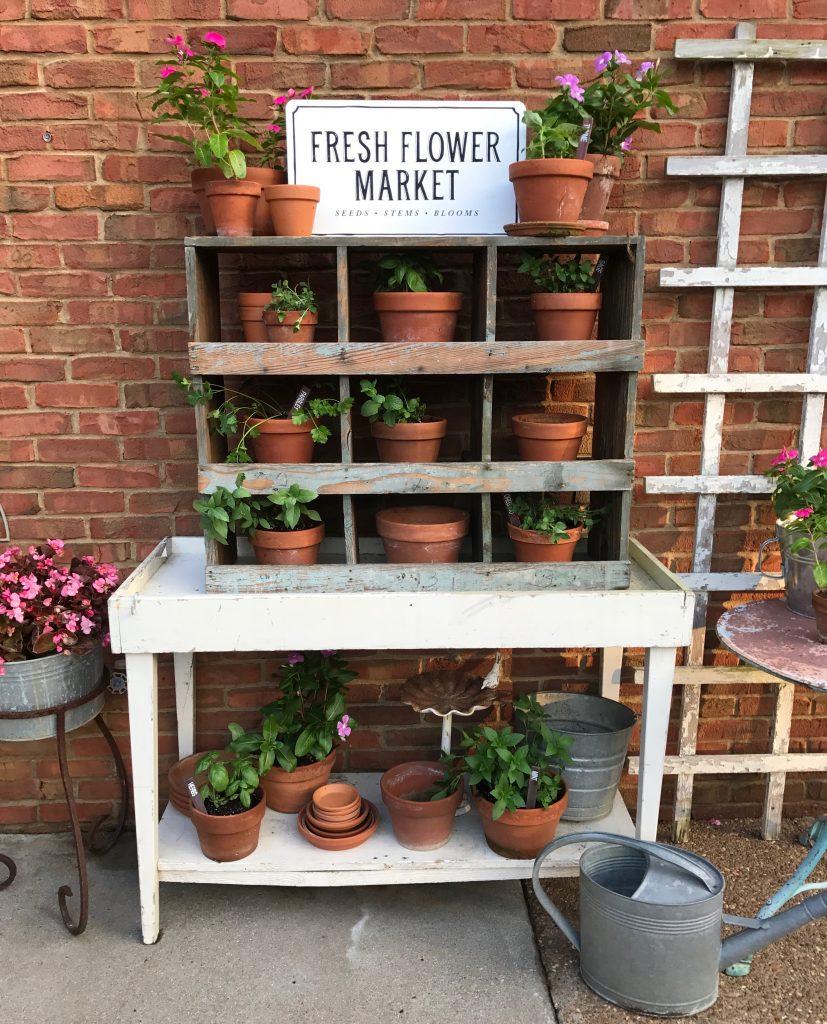 farmhouse herb garden planter