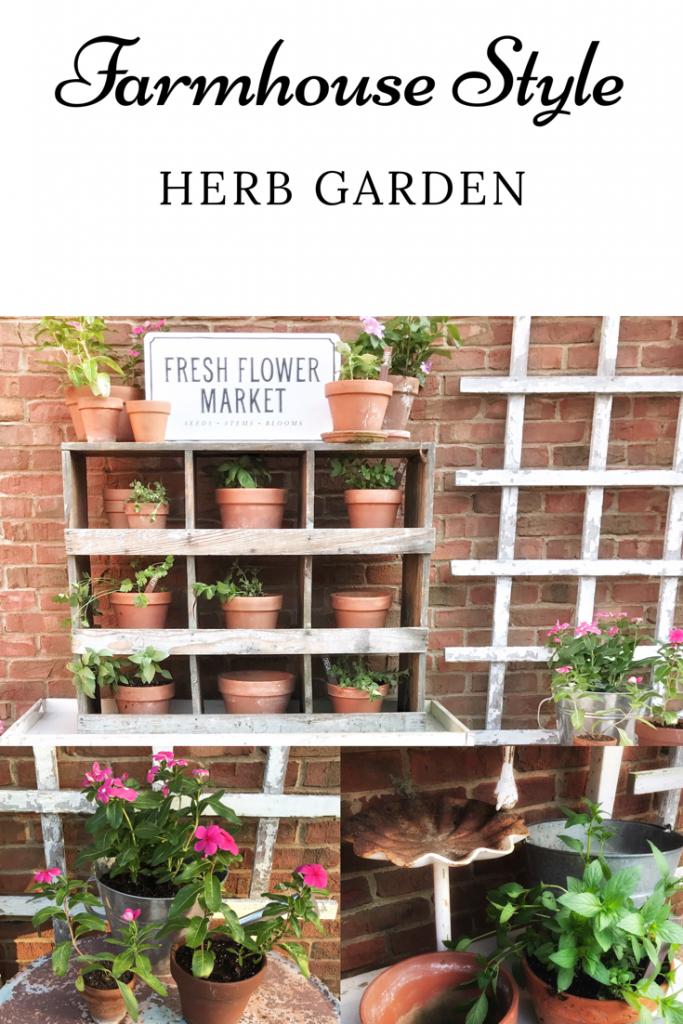 farmhouse style herb garden