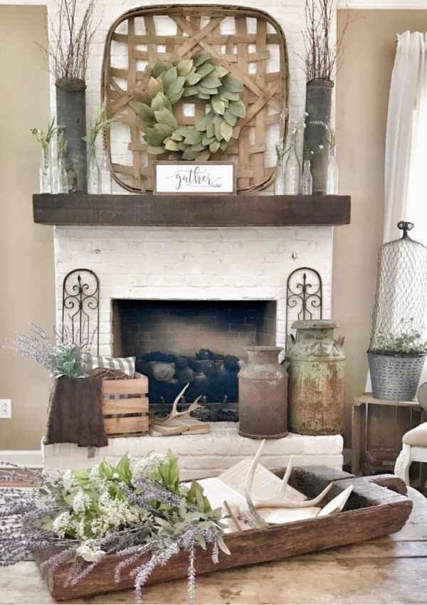 How To Paint Your Outdated Brick Fireplace