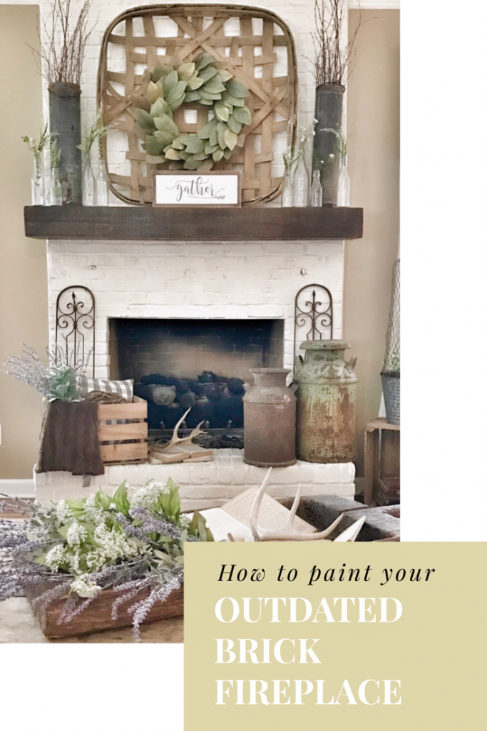 how to paint a brick fireplace header image