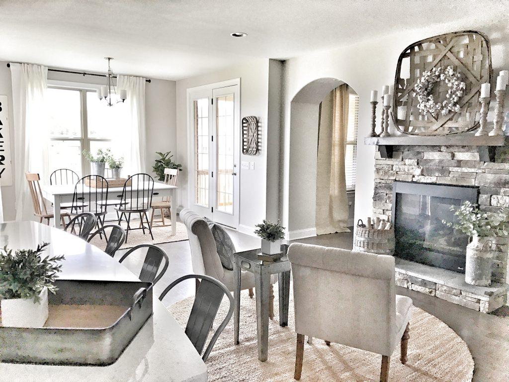beautiful farmhouse style living room