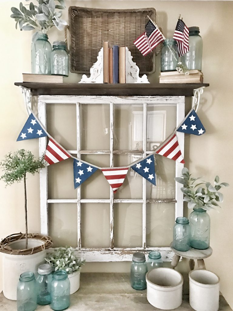 4th of july decor us flag banner