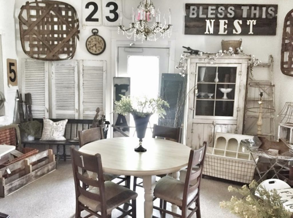 antique booth white furniture