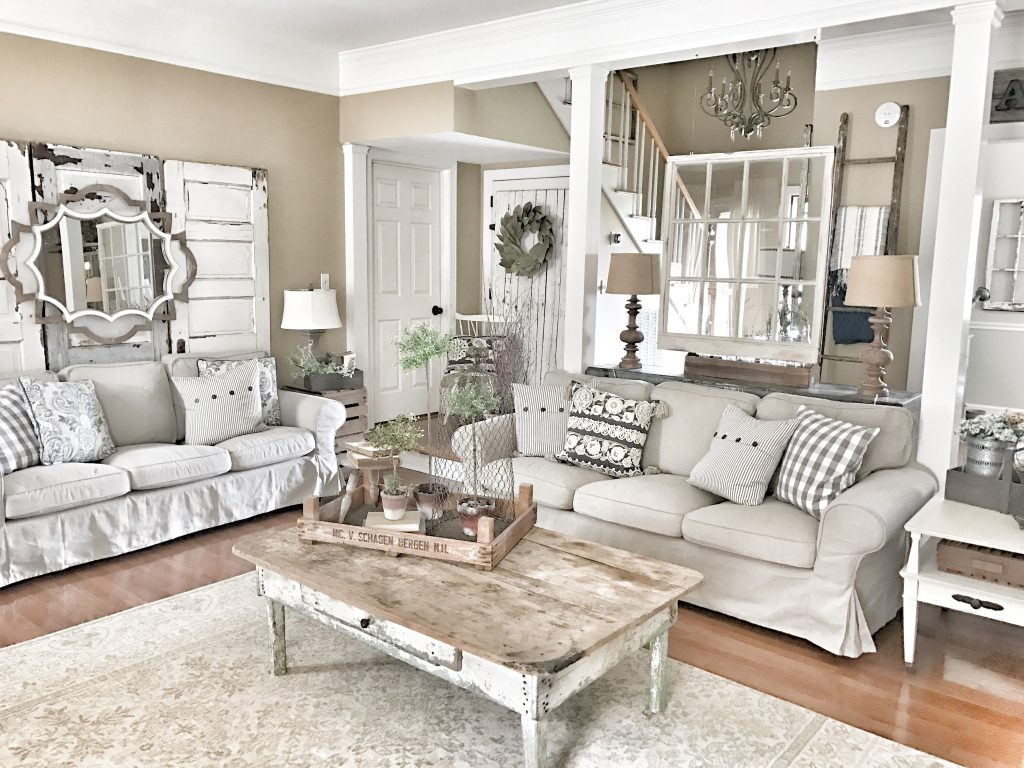 farmhouse living room couches
